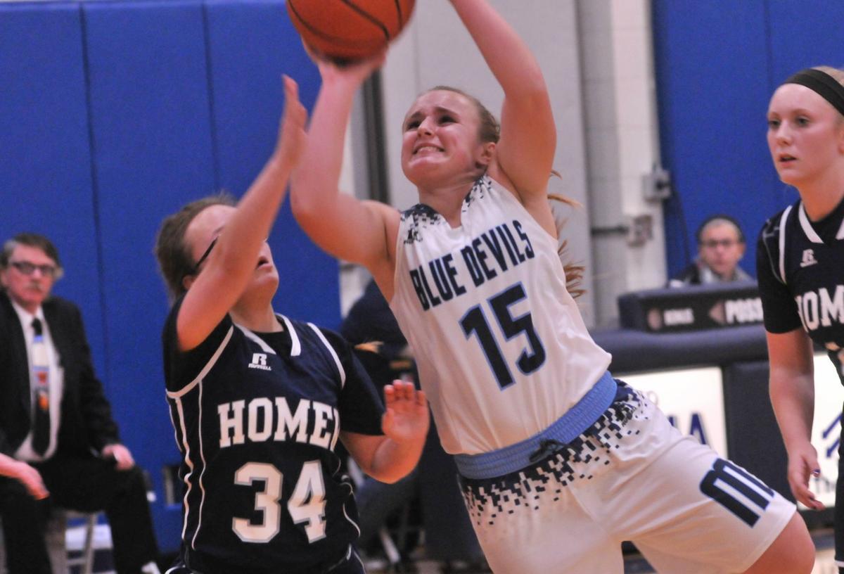 Moravia vs. Homer girls basketball