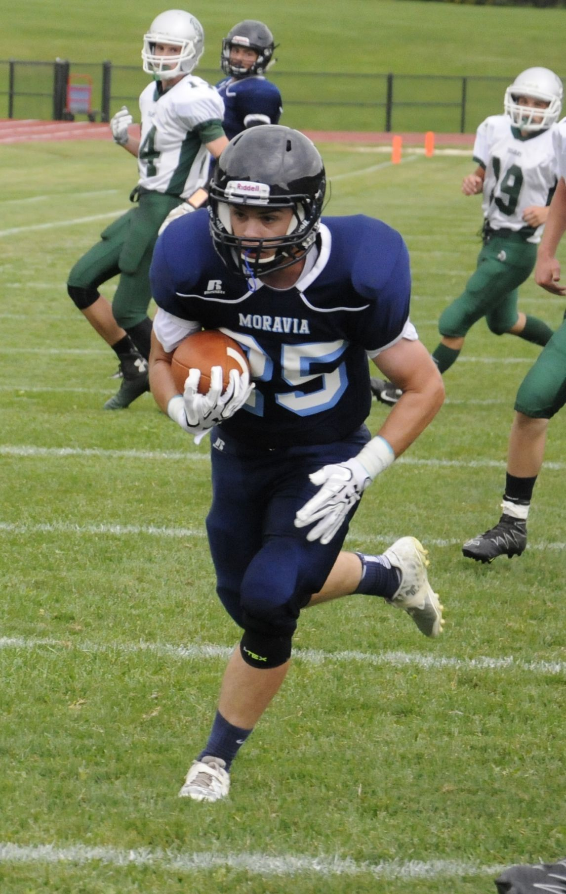 moravia football picks up first win with shutout over newfield