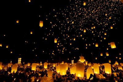 Floating lantern Festival in Chiangmai, Thailand