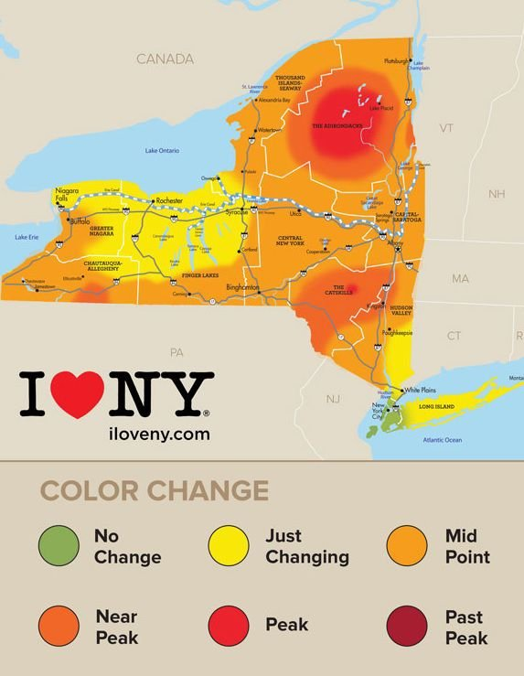 Canada Fall Foliage Map 2016 New York state fall foliage report for week of Oct. 5 | Local News