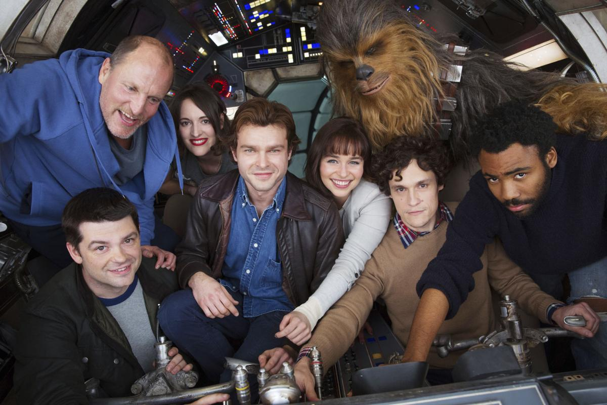 In This Image Provided By Lucasfilm Cast Members And Co Directors Of The Han Solo Star Wars Spin Off Pose For A Photo From Bottom Left Co Director