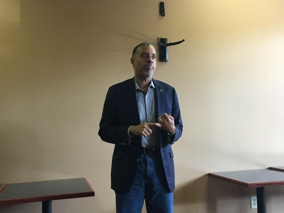 Larry Sharpe, Libertarian candidate for NY governor, brings message to Auburn