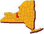 Cayuga County on map of NY