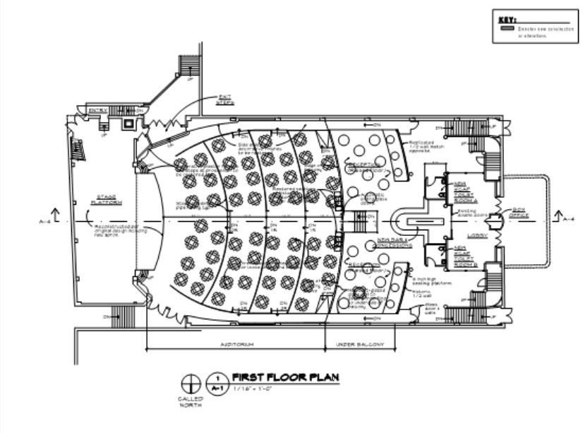 Auburn Schine Theater floor plan