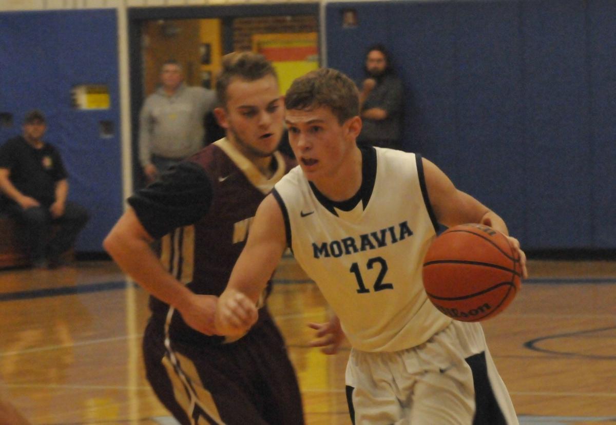 Moravia boys basketball vs Whitney Point