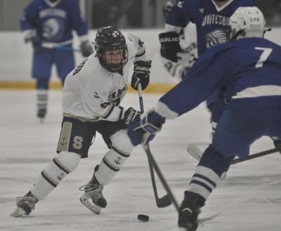 Skaneateles hockey vs. Whitesboro - Major