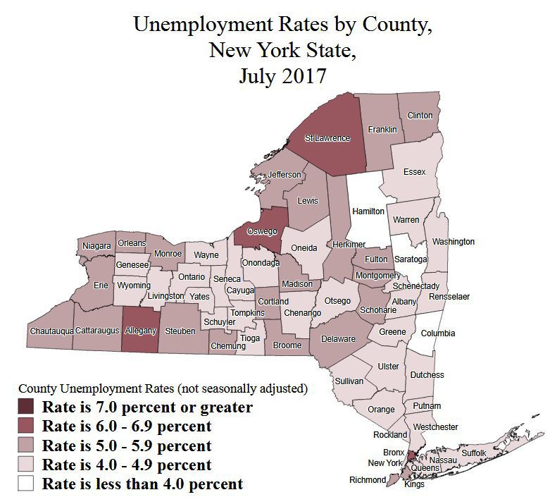 Local jobless rates improved in July - but remain some of state's highest