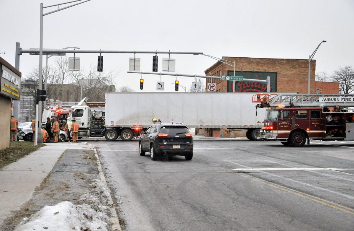 Tractor trailer crash shuts down Arterial outside Curley's
