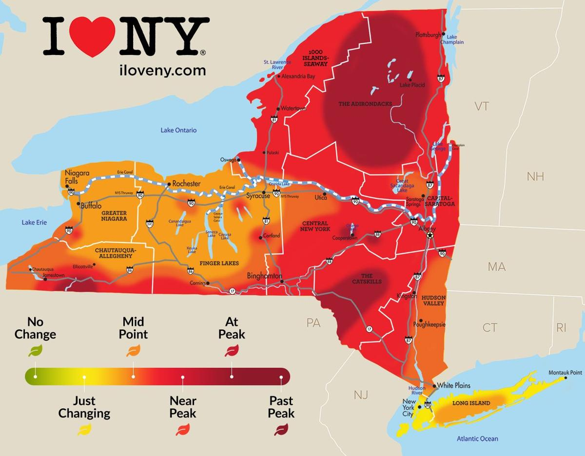 22 Miles From Canada To Lake Placid Map New York state fall foliage report for week of Oct. 16 22 | Local