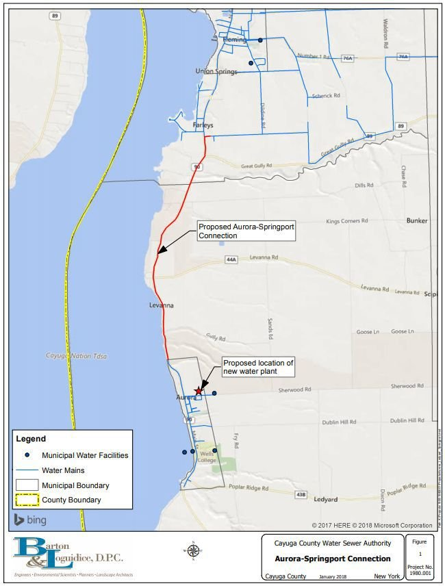 proposed Aurora water plant map