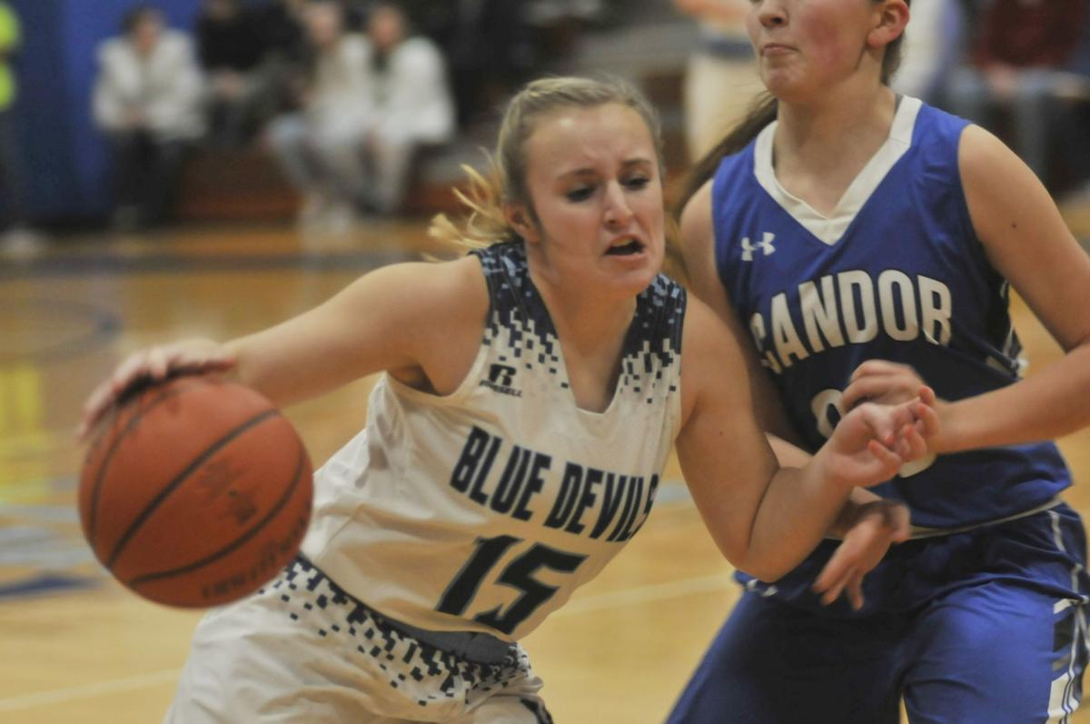 Moravia girls basketball vs. Candor - Wasileski