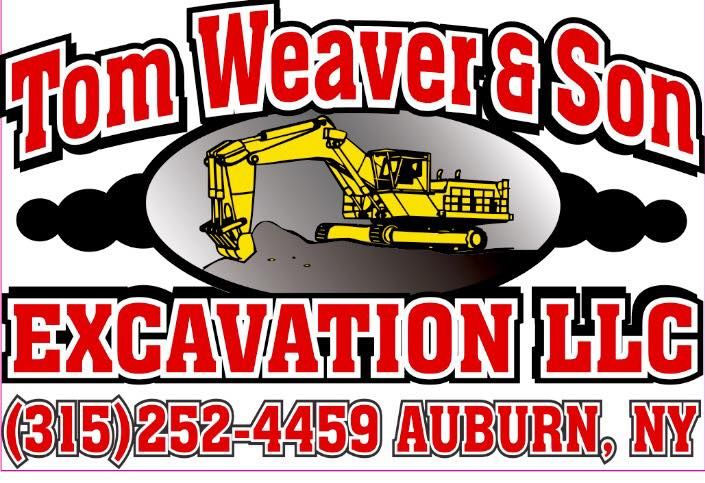 Tom weaver and son excavating logo