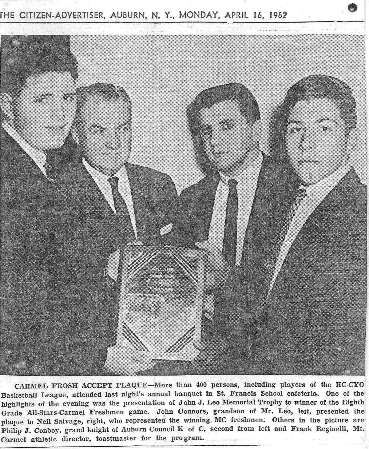 Photo # 2 - 1962 - Neil Salvage receives award