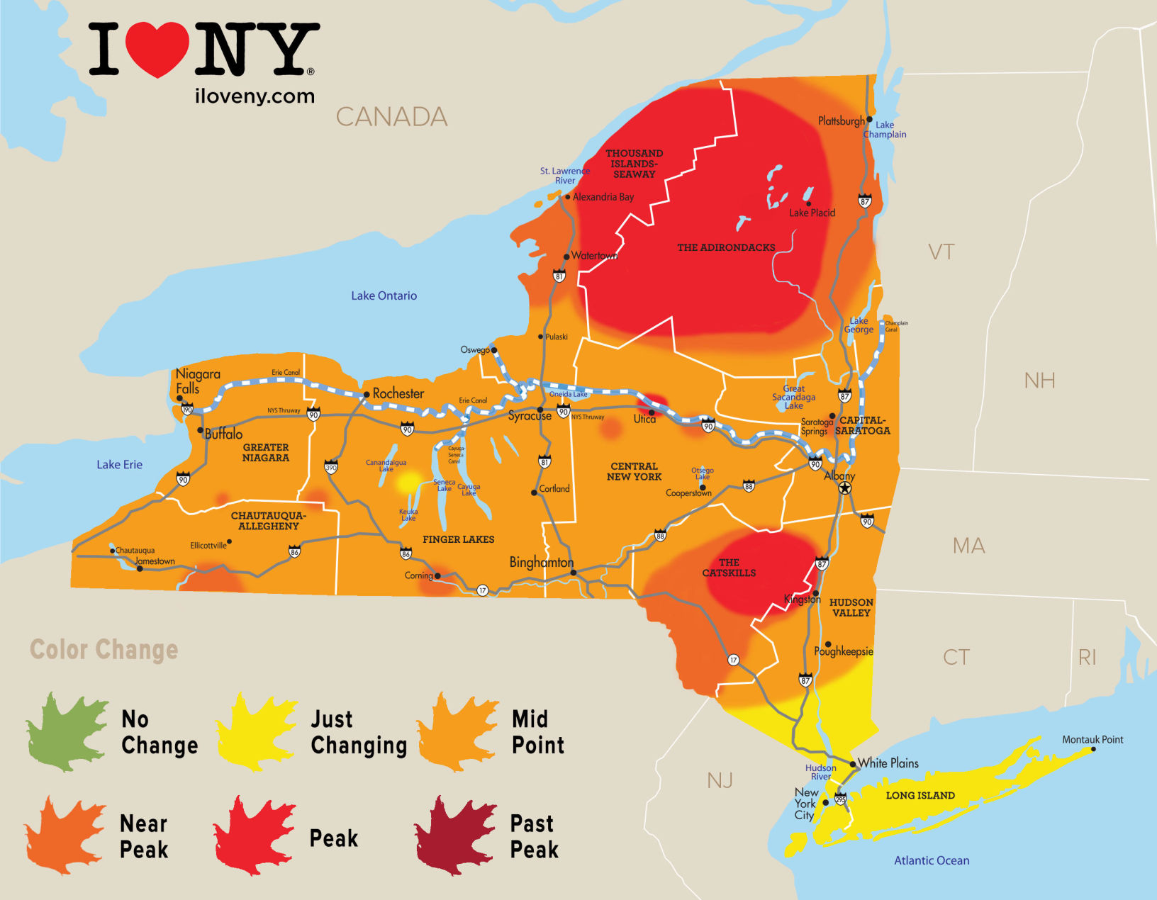 New York state fall foliage report for week of Oct. 10