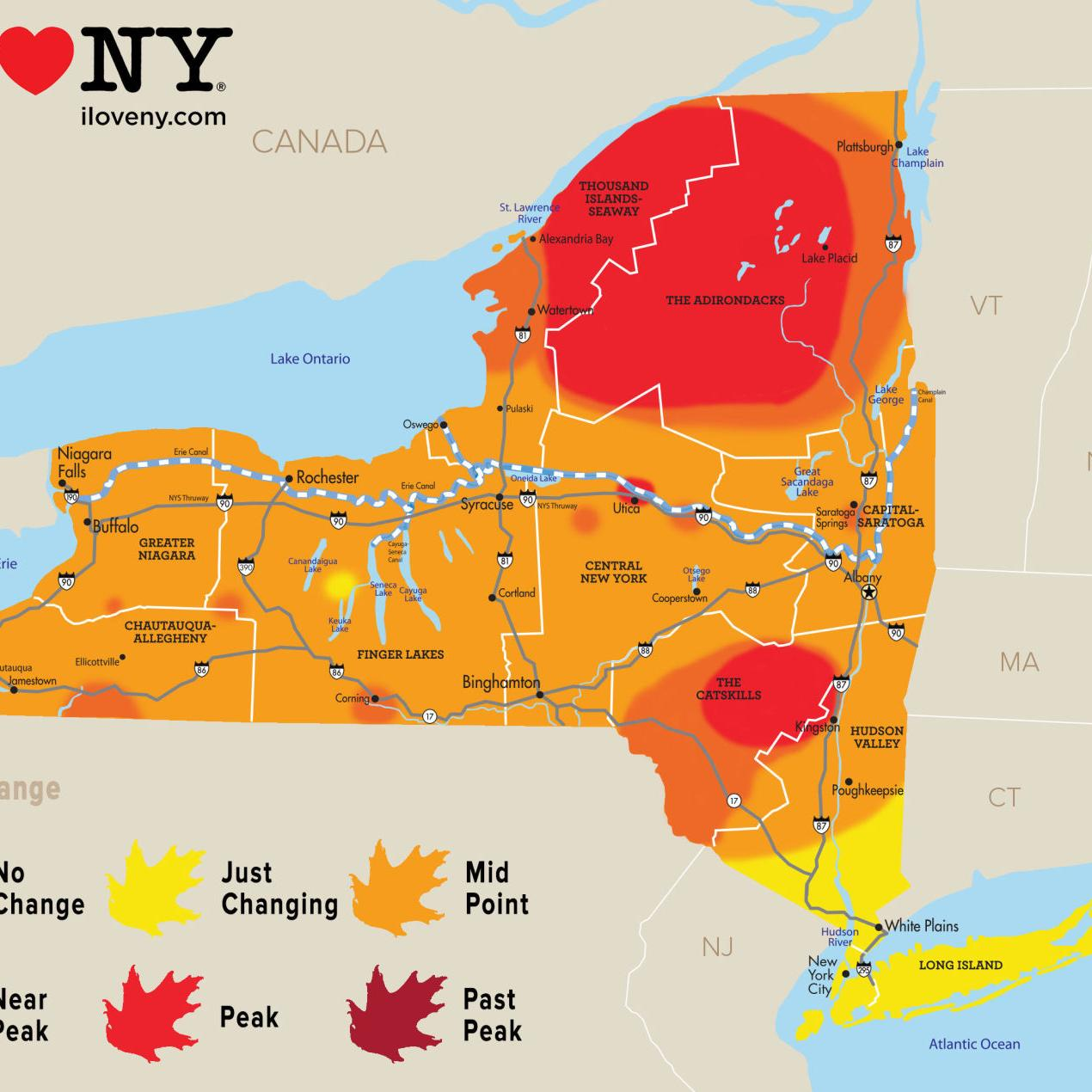 New York State Fall Foliage Report For Week Of Oct 10