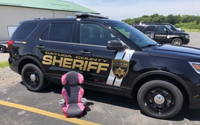 Cayuga County Sheriff child seat inspection