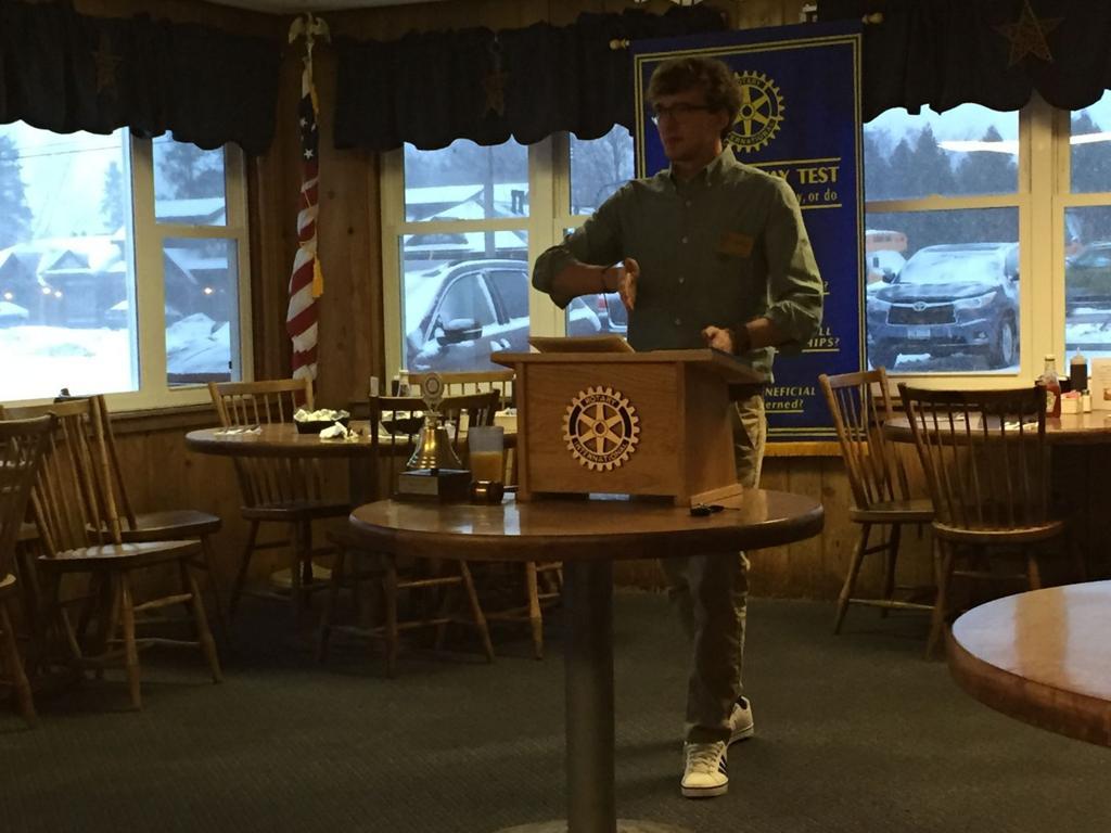 A gap year sonder: Skaneateles graduate tells Sunrise Rotary about