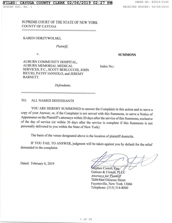 Dr. Karen Odrzywolski lawsuit