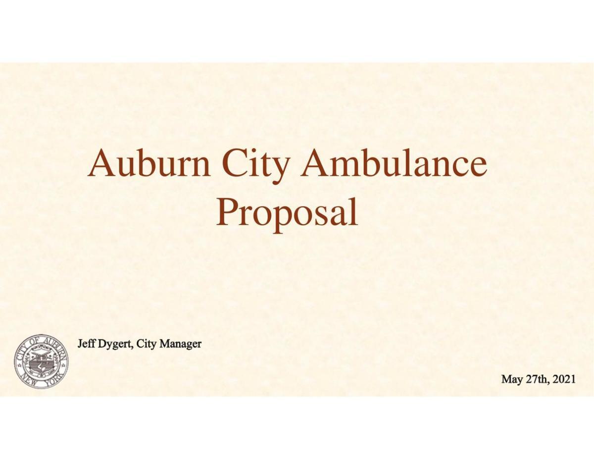 City manager's ambulance proposal