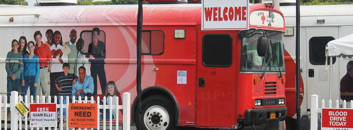 Red Cross bloodmobile