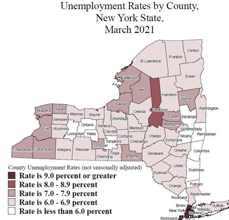March 2021 unemployment rate