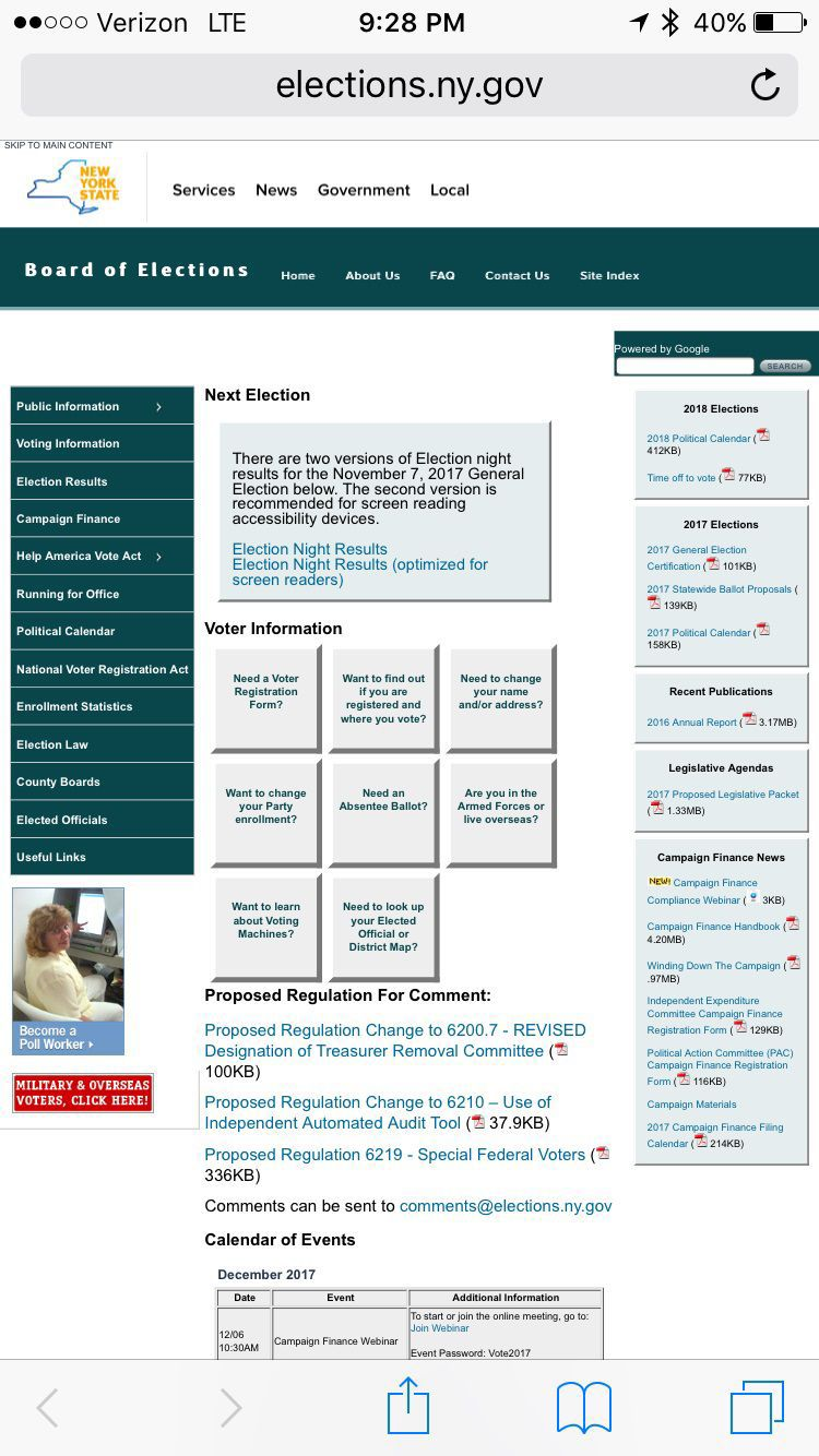 Board of Elections website