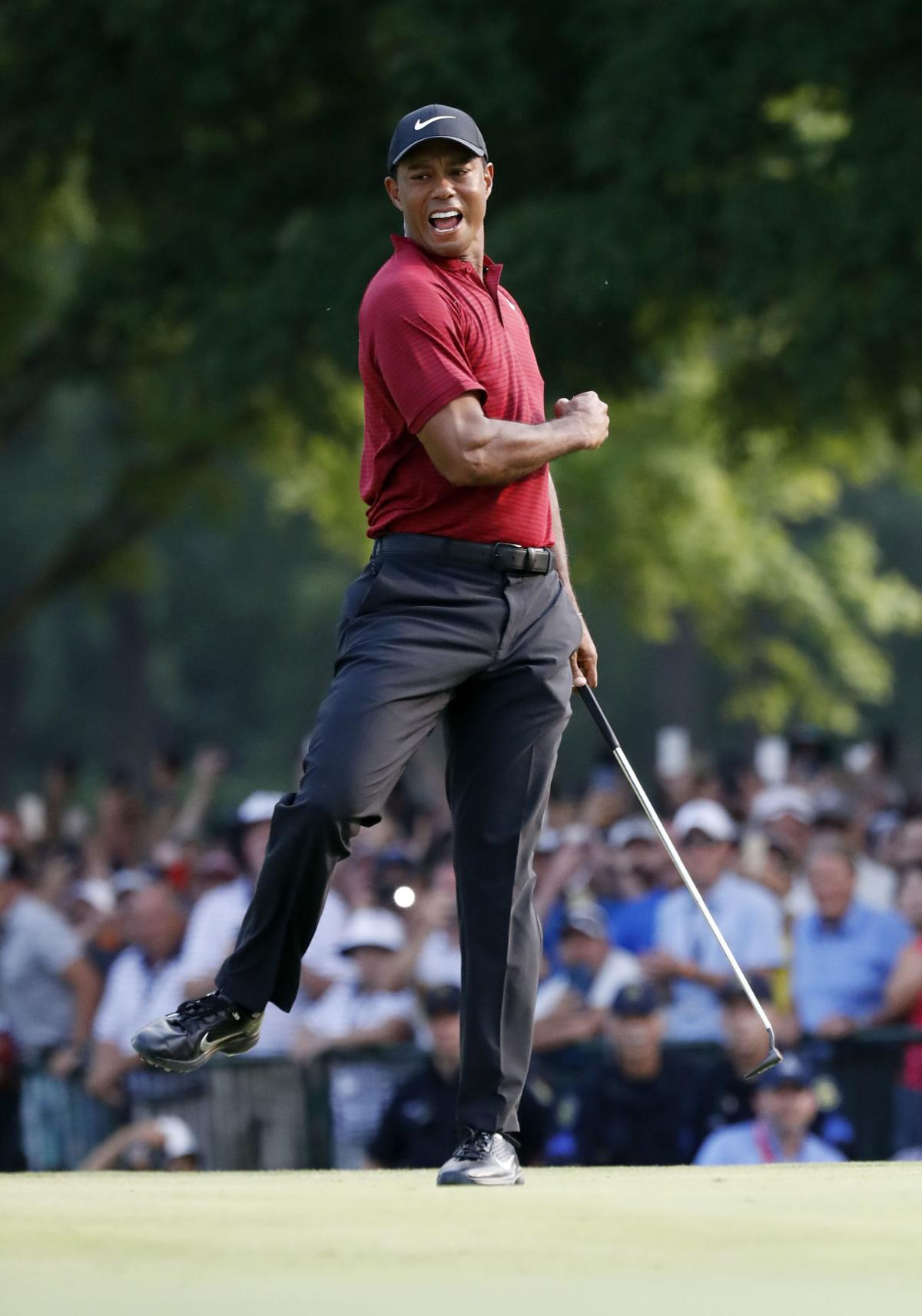 on the brink  tiger woods electrifies in 2nd