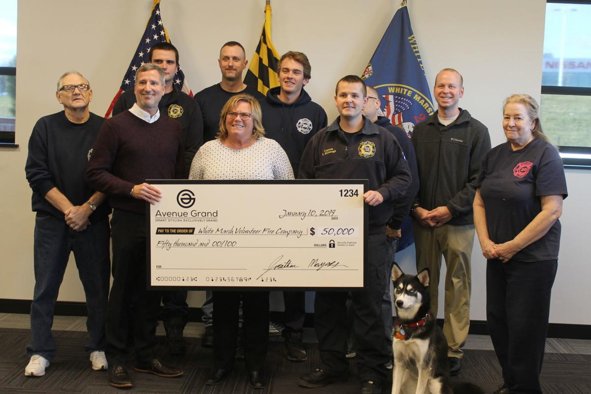 White Marsh Volunteer Fire Co. receives $50,000 developer donation