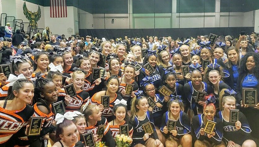 County cheerleading champs