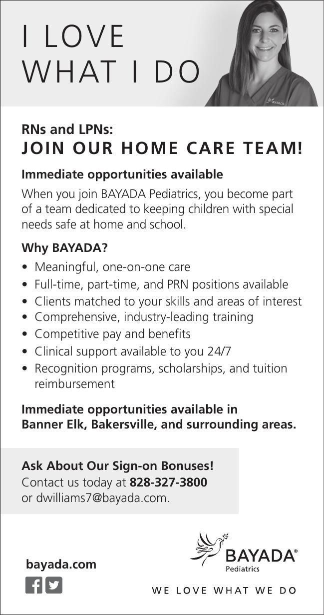 RNs and LPNs: JOIN OUR HOME CARE TEAM