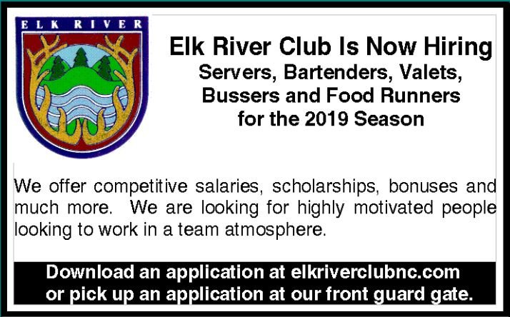 Elk River Club is Hiring!!