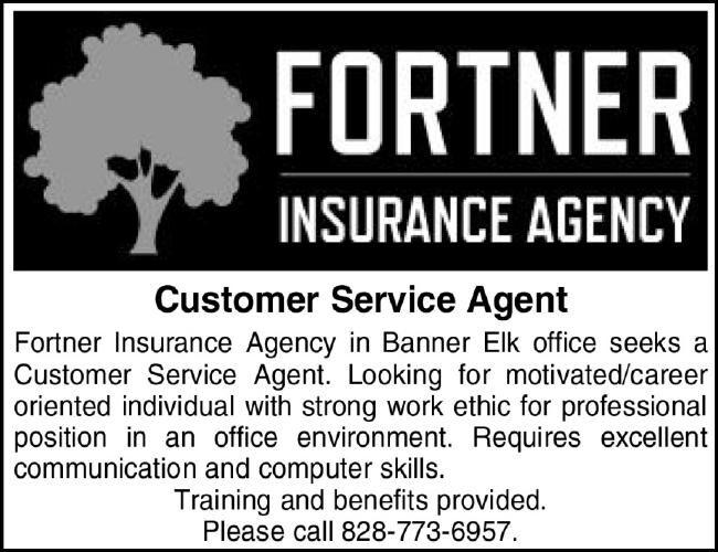 Fortner Insurance HIRING!