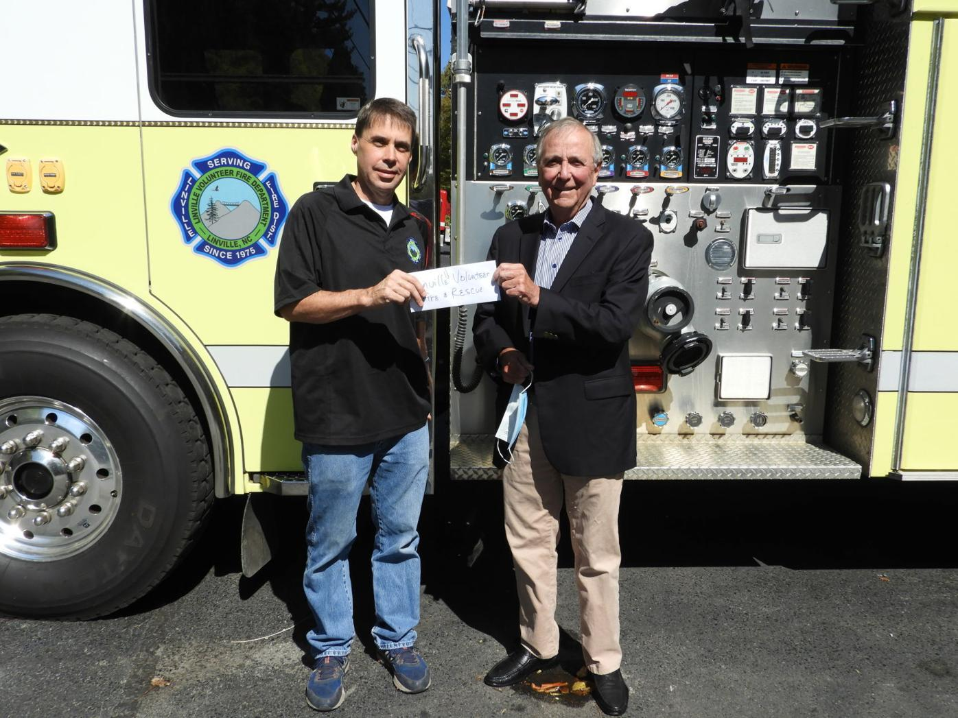 Linville Volunteer Fire Department donation