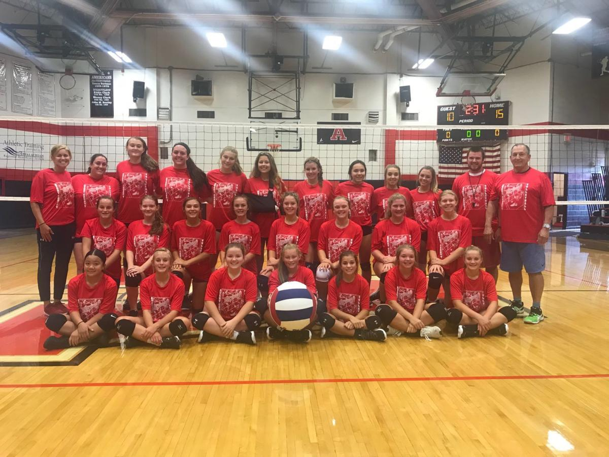 Older age group volleyball camp photo