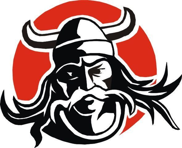 Viking Head Logo Avery girls hoops