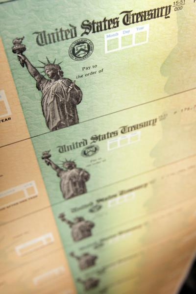 Stimulus checks on press