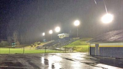 Orr Field illuminated