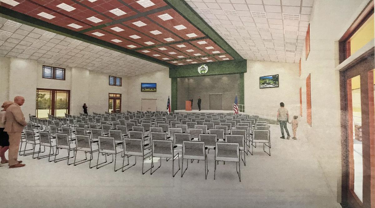 Architectural rendering community building