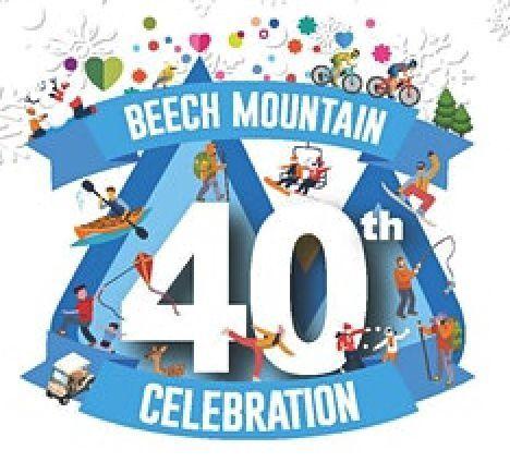 Beech Mountain 40th celebration logo