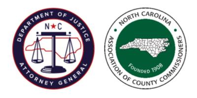 NC Dept. of Justice and NC Association of County Commissioners logos