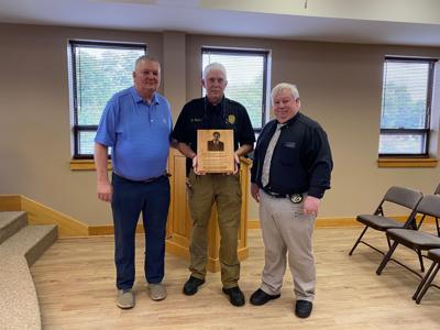 Tim, Mark Phillips and Sheriff Frye