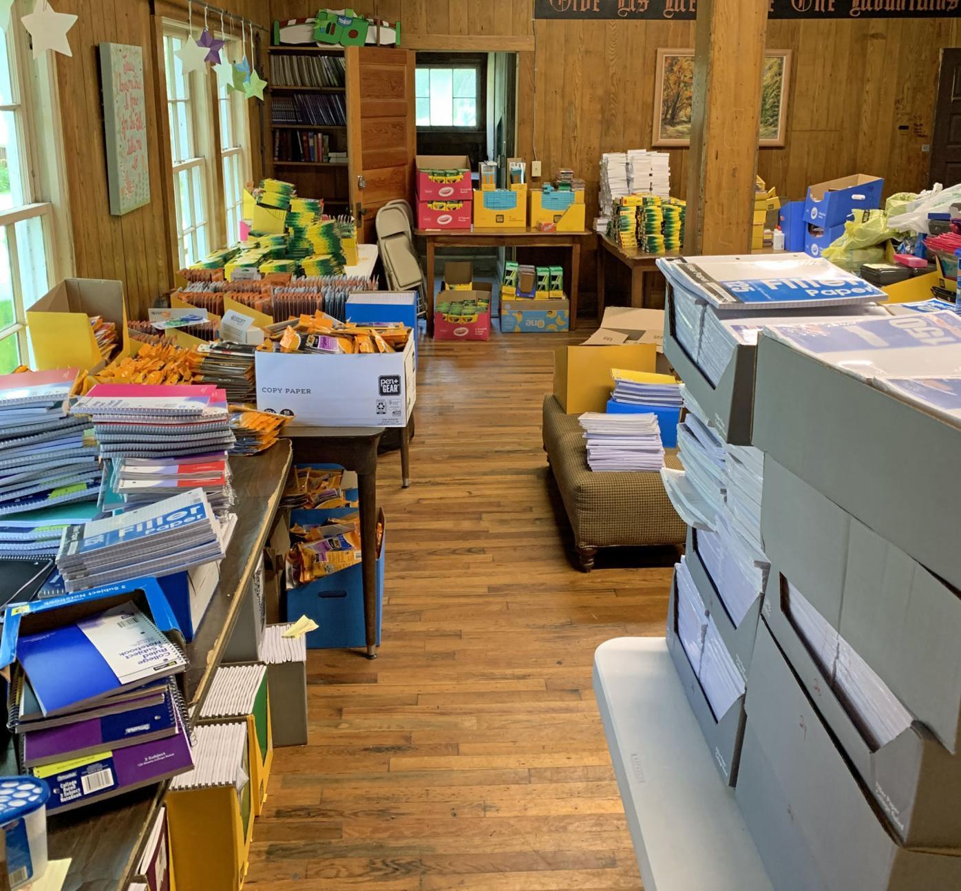 Supplies at Camp LH