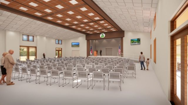 Rendering of new community building