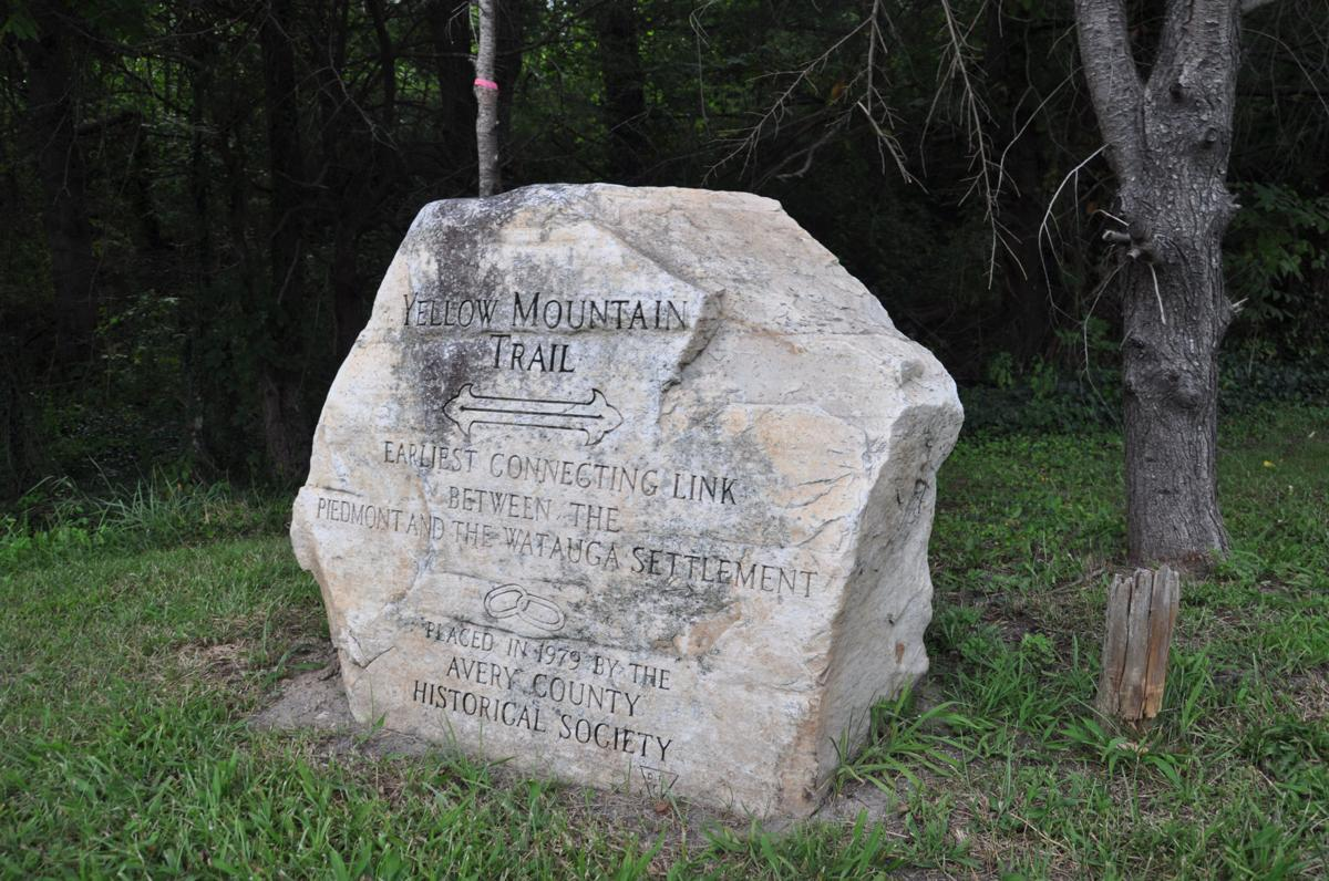 Yellow Mtn. Trail marker