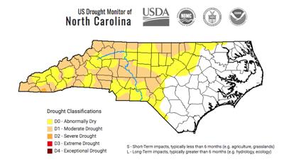 nc drought map Oct. 1