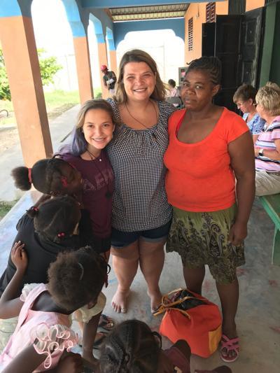 Haiti villager and kids