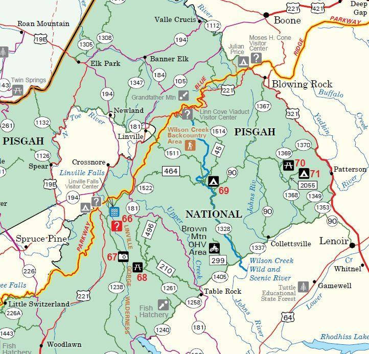 Bent Creek Forest (Pisgah National Forest) - Maplets |Pisgah National Forest Map