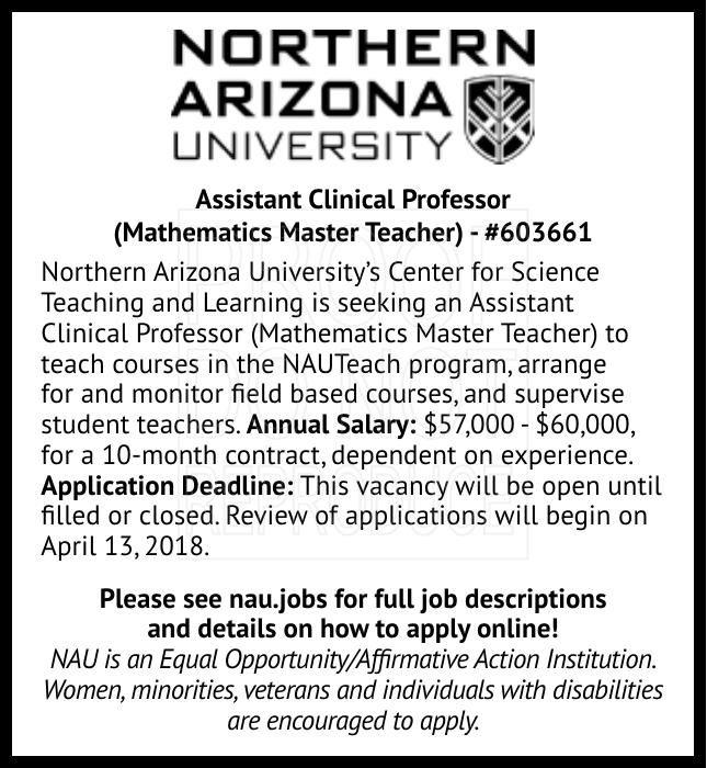 Assistant Clinical Professor (Mathematics Master Teacher) - #603661