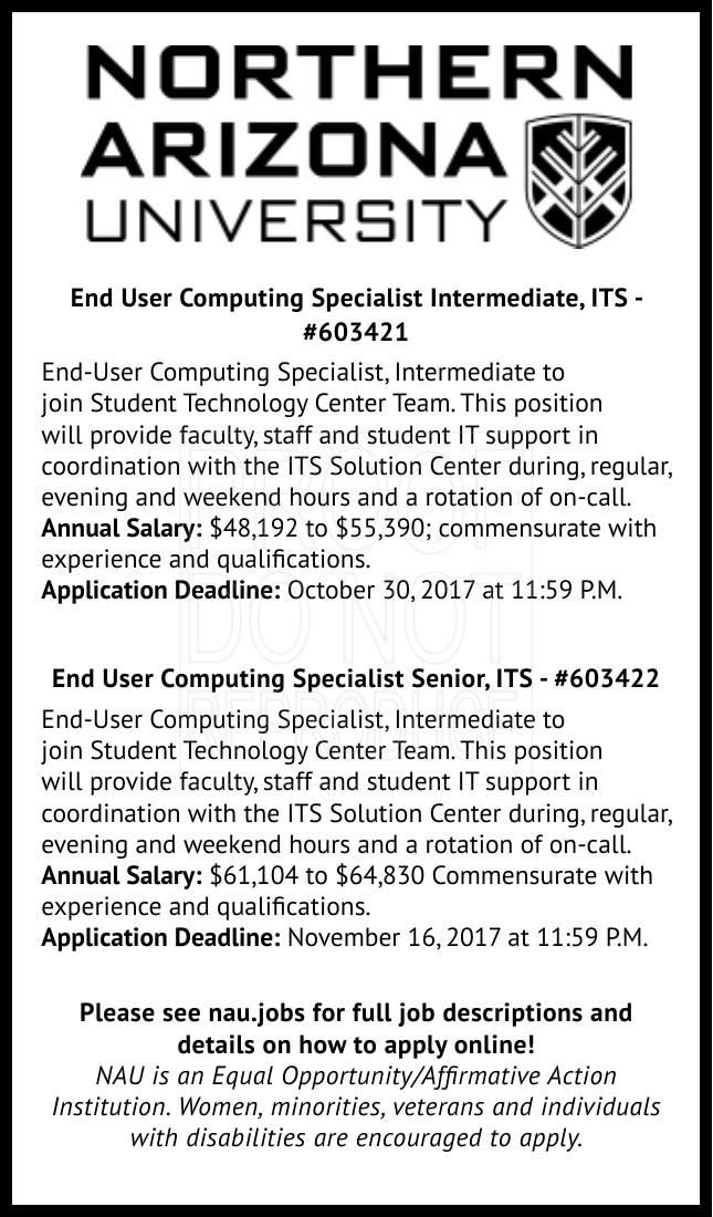 End User Computing Specialist Intermediate, ITS #603421