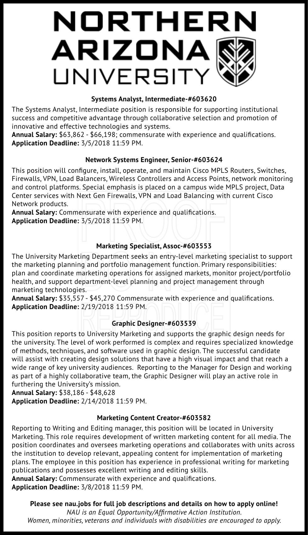 University / College Job Openings
